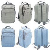 "12 Units of 17"" backpack Assorted Color - Backpacks 17"""