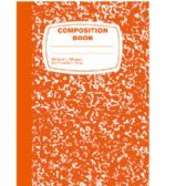 48 Units of Orange Composition Notebook - 100 Sheets - Notebooks