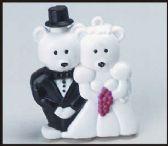 96 Units of Bride and groom bear bubbles - Bubbles