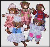 36 Units of Bear bean bag doll - Dolls