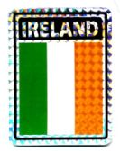 "96 Units of 3"" x 4"" ""IRELAND"" decal - Stickers"