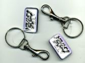 "144 Units of 2.5"" Metal clip keychain - Key Chains"