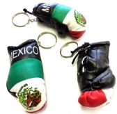 "144 Units of 3.5"" Mexico flag boxing glove keychain - Key Chains"