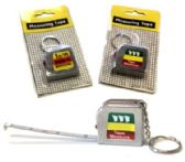 144 Units of Metal tape measure keychain - Key Chains