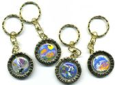 96 Units of Florida heavy gold metal keychains - Key Chains