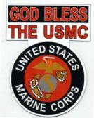 "96 Units of 3.75"" x 5"" magnet, God Bless The USMC, United States Marine Corps - Refrigerator Magnets"