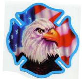 "96 Units of 6"" diameter magnet, Eagle / fire dept symbo - Refrigerator Magnets"