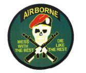 "96 Units of 5"" diameter magnet, Airborne - Mess With The Best, Die Like The Rest - Refrigerator Magnets"