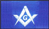 12 Units of 3' x 5' Polyester flag, Masonic (Masons), with grommets - MAGNETS/REFG. MAGNETS/SHAPE MG
