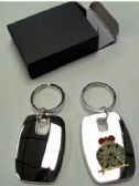 """24 Units of 2"""" Metal keychain with brass Masonic insignia, individually gift boxed - Key Chains"""