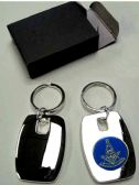 """24 Units of 2"""" Metal keychain with brass Masonic insignia, individually gift boxed, - Key Chains"""