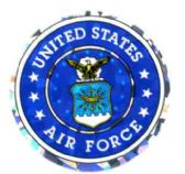 "96 Units of 3"" Round decal, United States Air Force, design varies - Stickers"