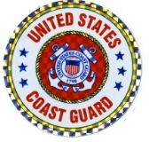 "96 Units of 3"" Round decal, United States Coast Guard - Stickers"