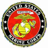 "96 Units of 3"" Round decal, United States Marine Corps - Stickers"