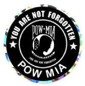 "96 Units of 3"" Round decal, POW-MIA You Are Not Forgotten - Stickers"
