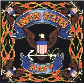 "48 Units of Bandana, approx 20"" x 20"", United States Navy - Bandanas"
