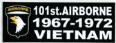 "48 Units of 3"" x 9"" decal, 101st Airborne 1967-1972, Vietnam - Stickers"