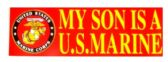 "48 Units of 3"" x 9"" decal, My Son Is A U.S. Marine - Stickers"