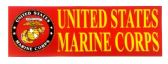 "48 Units of 3"" x 9"" decal, United States Marine Corps - Stickers"