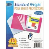 """100 Units of Sheet Protectors - 10 ct - 9"""" x 11"""" - Office Supplies"""