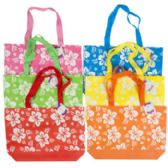 48 Units of Hibiscus Print Summer Beach Tote - Tote Bags & Slings