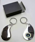 "36 Units of 2.5"" Metal keychain with brass Air Force insignia, individually gift boxed - Key Chains"