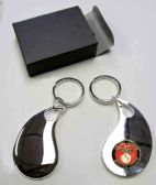"36 Units of 2.5"" Metal keychain with brass Marines insignia, individually gift boxed, - Key Chains"