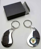 "36 Units of 2.5"" Metal keychain with brass Navy insignia, individually gift boxed - Key Chains"