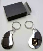 "36 Units of 2.5"" Metal keychain with brass POW insignia, individually gift boxed - Key Chains"