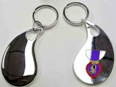 "36 Units of 2.5"" Metal keychain with brass Purple Heart insignia, individually gift boxed - Key Chains"
