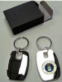 """36 Units of 2"""" Metal keychain with brass Air Force insignia, individually gift boxed - Key Chains"""