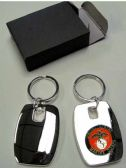 """36 Units of 2"""" Metal keychain with brass Marines insignia, individually gift boxed - Key Chains"""