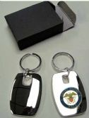 """36 Units of 2"""" Metal keychain with brass Navy insignia, individually gift boxed - Key Chains"""