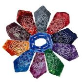 72 Units of Bandanas-Color Fade Paisley with Hang Tag - Bandanas