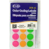 36 Units of Color Coding Labels - 306 Count - Labels
