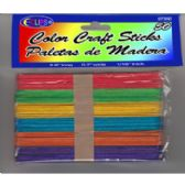 48 Units of Craft Sticks - Jumbo Size - 50 Pack-Assorted Color - Craft Wood Sticks and Dowels