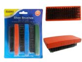 72 Units of 3pc Shoe Shine Brushes Blue, Red, Green Asst - Footwear Accessories