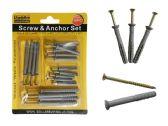 96 Units of 18pc Screws & Anchors Set - DRILLS/SCREWS/BITS