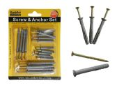 96 Units of 18pc Screws & Anchors Set - Drills and Bits