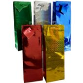 96 Units of Gift Bags - Hologram designs - Bottle - Gift Bags Assorted