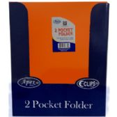 "48 Units of Premium Orange Plastic 2 Pocket Folders - 9.5"" x 11.5"" - Folder"