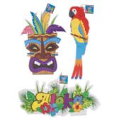 36 Units of Luau Paper Hanging Decorations - Hanging Decorations/Cut Outs/Clings