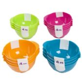 72 Units of 4 Pack Mini Bowl - Kitchen > Accessories