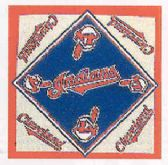 "24 Units of Cleveland Indians bandana, 20"" x 20"" - Bandanas"