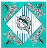 "24 Units of Florida Marlins bandana, 20"" x 20"" - Bandanas"