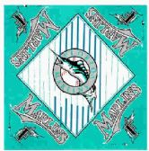 "24 Units of Florida Marlins bandana, 20"" x 20"" - Bandanas"
