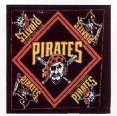 "24 Units of Pittsburgh Pirates bandana(style may vary), 20"" x 20"" - Bandanas"