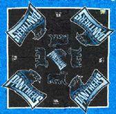 """24 Units of Carolina Panthers licensed NFL bandana, 20"""" x 20"""" - Bandanas"""