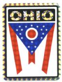 "96 Units of 3"" x 4"" Ohio decal - Stickers"