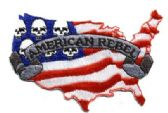 "48 Units of Embroidered iron-on patch, approx. 4"" wide, ""AMERICAN REBEL - Novelties"